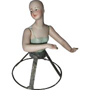 Large Jointed German Half Doll