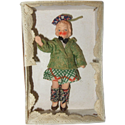 German Painted Bisque Miniature Dollhouse Doll