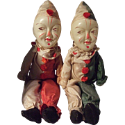 Pair of Cloth and Celluloid Clown