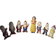 Walt Disney Bisque Figurines Snow White and the Seven Dwarfs