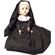 Hard Plastic, Jointed Knee, Walker, Nun Doll