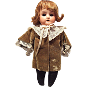 Cabinet Size, German, Bisque Head, Dolly Face Doll
