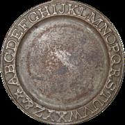 Antique Child's ABC Plate