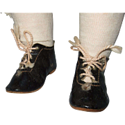 Old German Black Doll Shoes and Socks