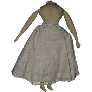Home Made, Cloth, Doll Body for China or Parian Head