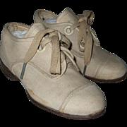 Vintage, White Linen, Boys, Dress Shoes