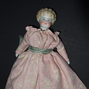 Parian Doll with Molded Necklace and Collar