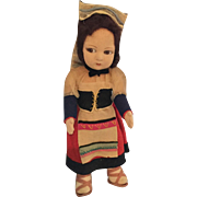 Felt Mask Face, Lenci Type Doll