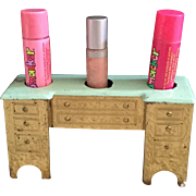 Lipstick Caddy in shape of a Dresser