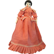Miniature, Hertwig China Doll on Printed Body