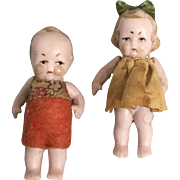 Pair of Hertwig Miniature Dolls