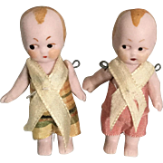 Pair of Hertwig, Google Eyed, All Bisque Babies