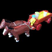 German, Putz Wagon and Horses