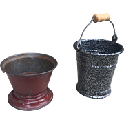 German, miniature Metal Pails