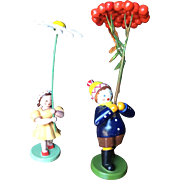 German, Miniature Wood Figurines