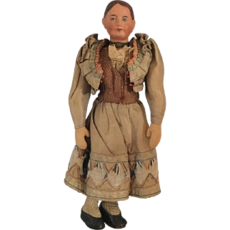French, Pottery Head Doll