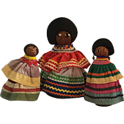 Three Seminole Indian Dolls