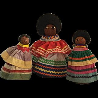 Three Seminole Indian Dolls