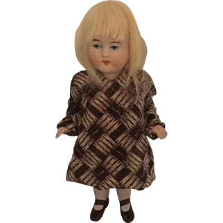 German, All Bisque, Miniature Girl Doll