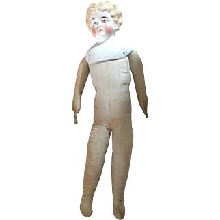 Cloth Body for China Head Doll- head included