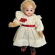 Miniature, German, Bisque Head Doll