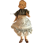 German, Dollhouse, Painted Bisque Maid