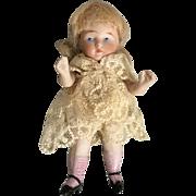 Kestner, All Bisque, Miniature Girl #357