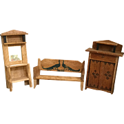 German, Wood Dollhouse Furniture