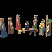 Wood, Miniature Nativity Set