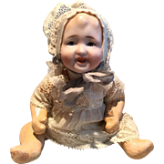 German Baby with Bisque head/  Composition Body