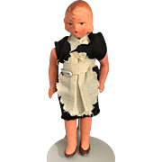 Miniature, Dollhouse, Painted Bisque Maid