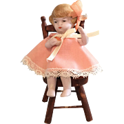 Hertwig, All Bisque, Sitting Doll