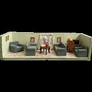 Shadow Box of Vintage Living Room