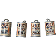 Miniature, Pet Milk Cans
