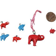 Miniature, Glass Elephants