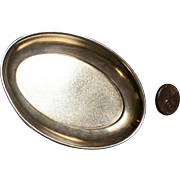 Miniature, Sterling Silver Meat Platter