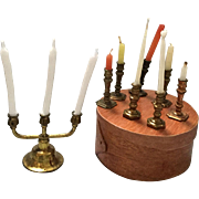 Miniature, Dollhouse Candle Holders