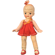 Japanese, Composition Girl Doll