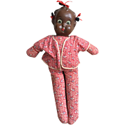 Black Composition/ Cloth Baby Doll