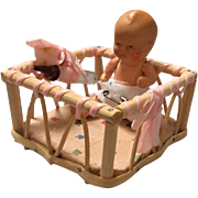 German, Miniature, Play Pen and Baby
