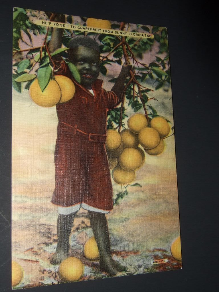 Florida Postcard of Black Child