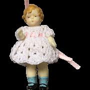 Miniature, Wax Doll - Red Tag Sale Item
