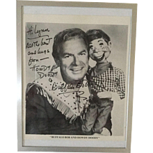 Autographed Photograph of Howdy Doody and Buffalo Bob