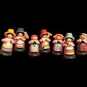 German, Putz, wood Girls