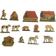 German, wood Lithograph Toys