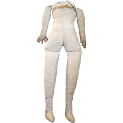 Early Cloth Body for China, Parian or papier-mâché