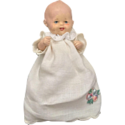 German, Painted Bisque, Miniature  Baby