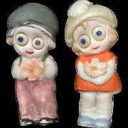 German, Miniature, Googly Eyed Dolls
