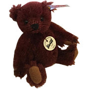 Steiff Club Teddy Bear Burgundy