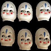 Vintage, Masked Face, Plastic Clown Faces